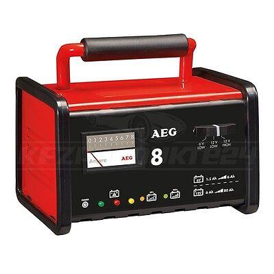 AEG 97008 WERKSTATT-LADEGERÄT KFZ BATTERIELADEGERÄT »WM 8« - 8A - 6 & 12 VOLT