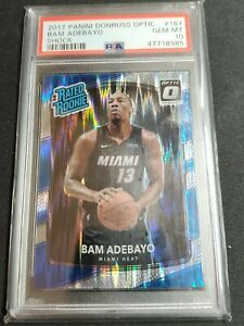 2017 Panini Donruss Optic BAM ADEBAYO Shock Rated Rookie #187 PSA 10 Miami Heat