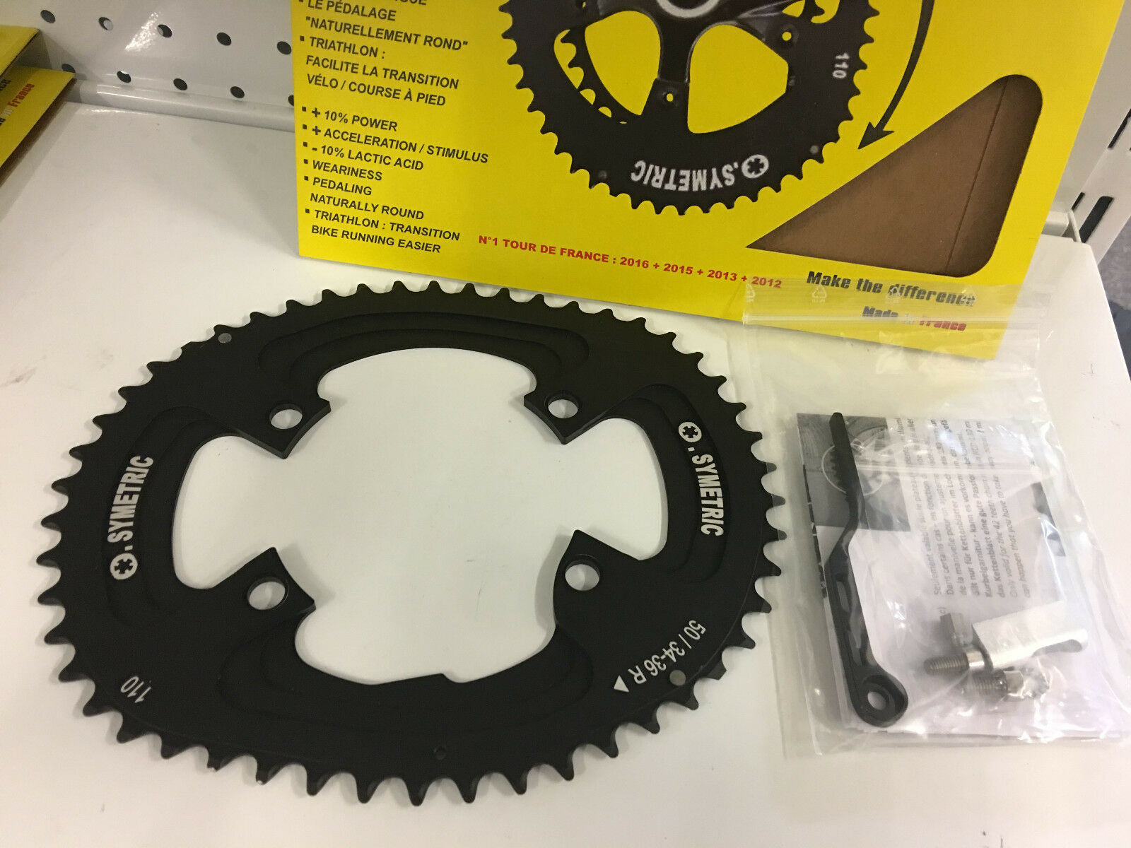 Osymetric BCD 110mm x 4Bolt R-9100 Alloy Bicycle Chainring Set