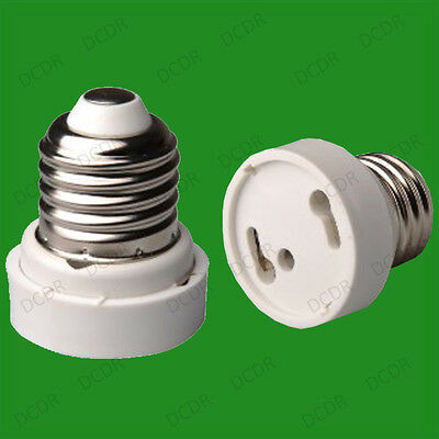 GU24 To Edison Screw ES E27 Light Bulb Adaptor Holder Converter Base Lamp Socket