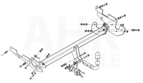 GH Anhängerkupplung starr+ES 7p ABE Für Mazda CX-5 I KE