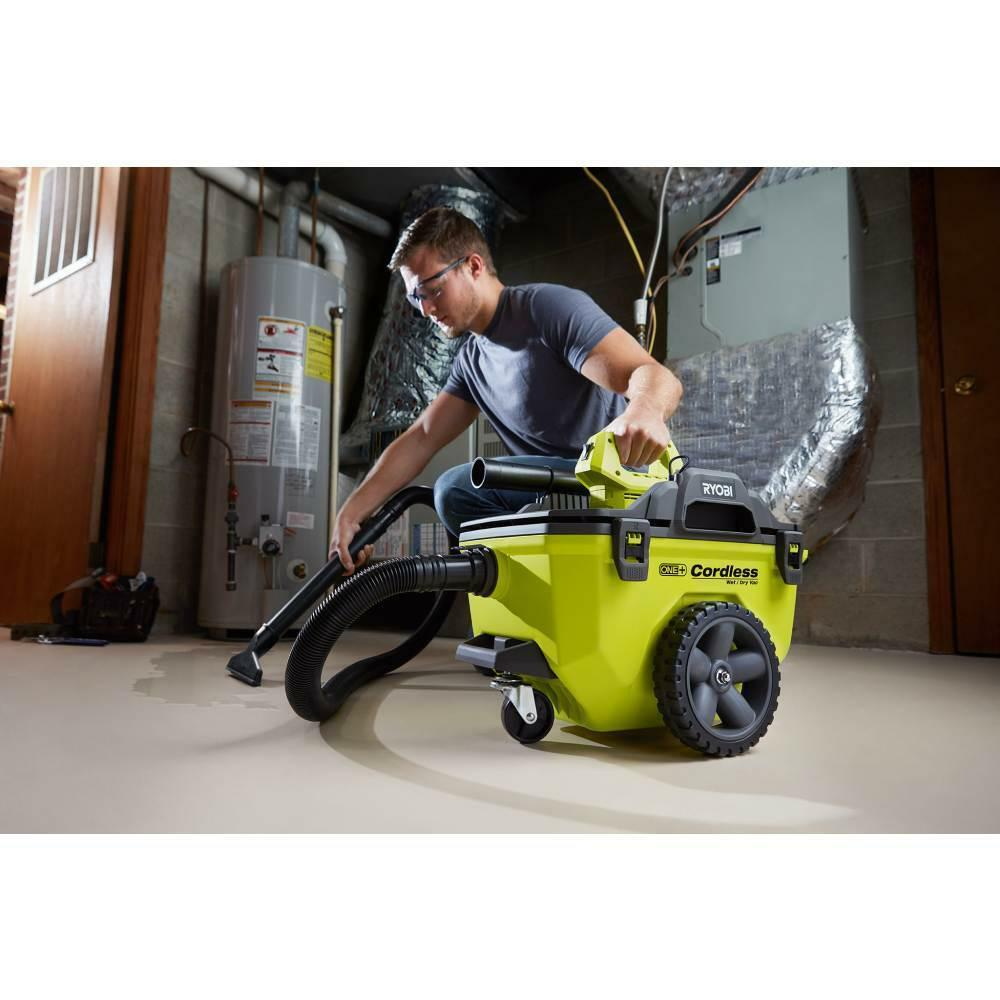 Ryobi Vacuum Wet Dry Shop Vac Cordless 18V ONE+ 6 Gal. Battery Charger Included