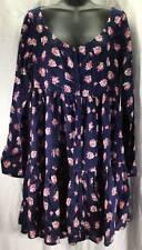Volcom Dress Womens Size 12 New Blue Orange Pink White Floral 8315