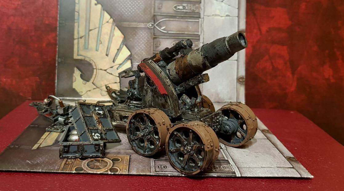 Heavy Artillery Carriage with Medusa Siege Gun painted Warhammer 40k