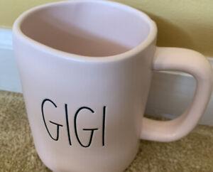 New-Rae-Dunn-by-Magenta-L-L-Solid-Pink-034-GIGI-034-Coffee-Mug-Rare-VHTF