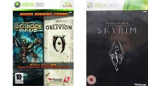 Bioshock-amp-The-Elder-Scrolls-IV-Oblivion-amp-V-Skyrim-Xbox-360-Formato-PAL