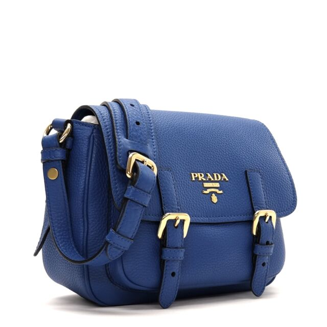 789c32c00cfb PRADA CroossBody Shoulder Bag Blue Leather for sale online | eBay