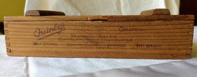 Atq Vtg Quinbys Ca Chocolate Shop 12 Lb Sequoia Redwood Hinged Candy Wood Box Ebay