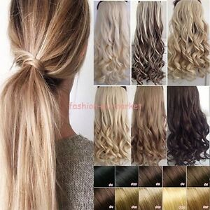 Clip In Hair Extensions Deluxe Thick Ponytail Wrap Around