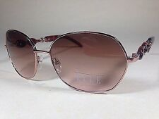 $88 New Authentic ELLE Oval Sunglasses Gold Tortoise Brown Gradient Designer