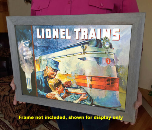 1935 Vintage Poster Lionel Trains Hiawatha Streamliner