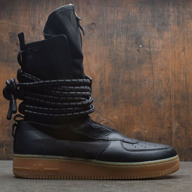 more photos 675e6 b8fc5 Nike Mens SF Af1 Hi Black Aa1128-001 Air Force 1 Special Field 12