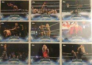 WWE-Topps-Women-039-s-Division-2019-Evolution-Insert-Singles-20-off-3-Cards