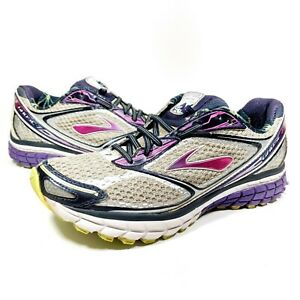 Brooks-Ghost-7-Womens-Athletic-Sneakers-Running-Shoes-Size-USA-9-5-Gray-Purple