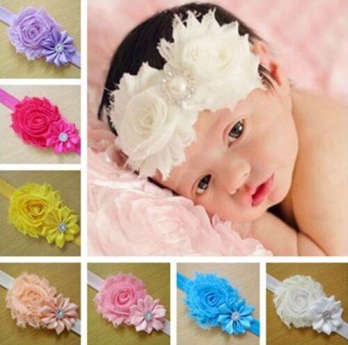10PCS Kid Girl Baby Toddler Infant Flower Headband Hair Bow Band IL