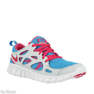e05068324a152b Nike Free Run 2 (GS) Big Kids Running Training Shoes Size 7Y Blue ...