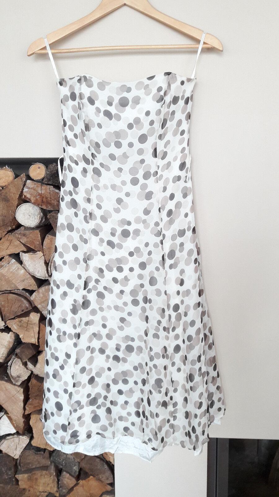 Debut Début Kleid Sommerkleid Gr. 34 100 % Seide gepunktet