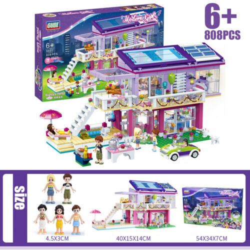 Modern Girls Leisure Building Doll Blocks Bricks Friends Firgures Toys Xmas Gift