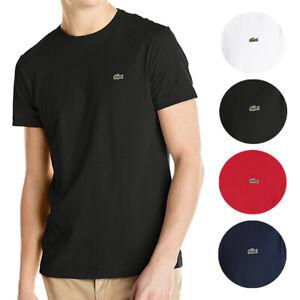 Lacoste-Men-039-s-Classic-Premium-Pima-Cotton-Crew-Neck-Sport-Shirt-T-Shirt