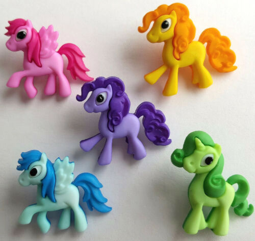 Little Pony Parade Childrens Buttons Novelty Buttons Cake Decorations MY