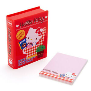 Hello-Kitty-Book-Shaped-Cased-Notes-Sanrio-Kawaii-Cute-Stationary-2018-ZJP