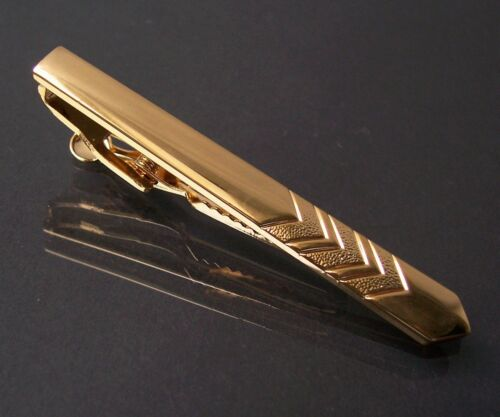 P 16 un alfiler de corbata-paréntesis oro pl joyas nuevo