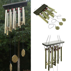 Large-Outdoor-Living-Yard-Garden-12-Tubes-Bells-Copper-Wind-Chimes-home-decor