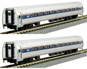 Kato-N-Scale-Amtrak-Amfleet-I-Phase-VI-2-Passenger-Car-Add-on-Set-A-1068002