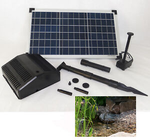 solar pumpe mit 20 w modul solar garten gartenteich teich tauch pumpenset filter ebay. Black Bedroom Furniture Sets. Home Design Ideas