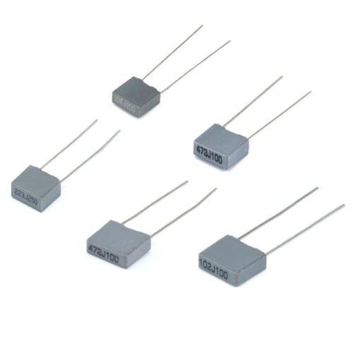 Grey Correction Capacitor Square 100V (0.1UF 1NF 4.7NF 22NF to 47NF) 10~500Pcs