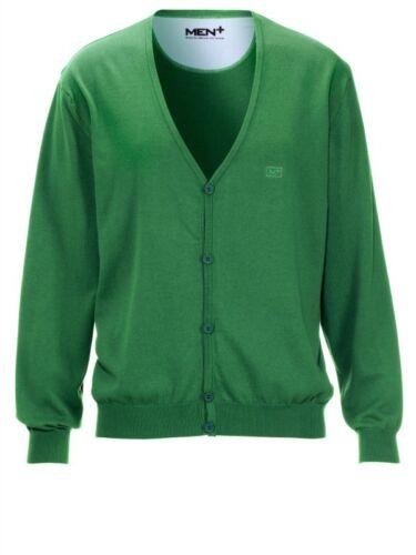 Cardigan Giacca Maglia cotone Verde Tg 52//54 NUOVO