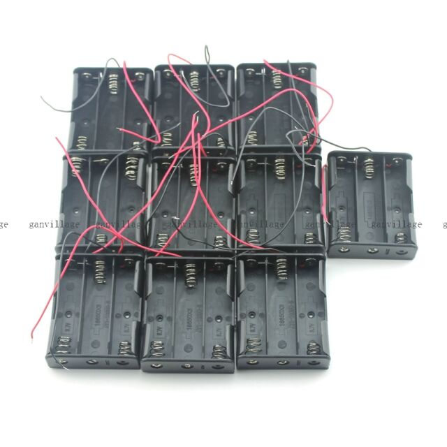 10pcs Battery Box Holder Case For 3x 18650 Battery Smart Car Power L298N Arduino