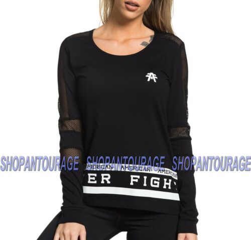 American Fighter Redondo FW5459 Women`s New Long Sleeve Top By Affliction