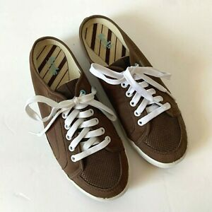 mule sneakers/shoes brown arch support