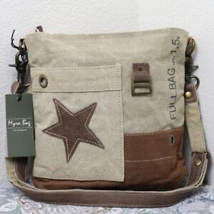 New Myra Bag Vintage Star Canvas Shoulder Bag Leather Purse For Women Medium Ebay In excellent condition no signs of wear. ebay