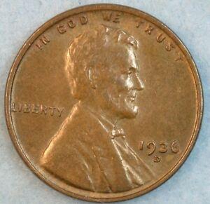 1936 D Lincoln Wheat Cent DENVER MINT UNCIRCULATED UNC FAST S&H 34020