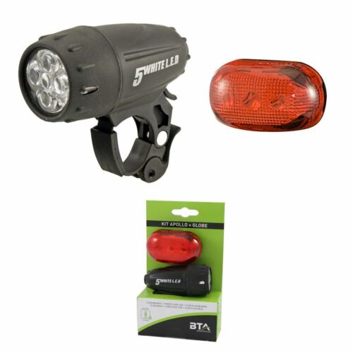 globe 546022060 BTA luci ciclismo kit fanali led apollo