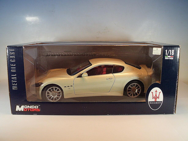 Mondo Motors 1 18 MASERATI Gran GRANTURISMO blancmetallic neuf dans sa boîte  123