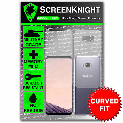 ScreenKnight Samsung Galaxy S8 PLUS (S8+) FULL BODY SCREEN PROTECTOR -CURVED FIT