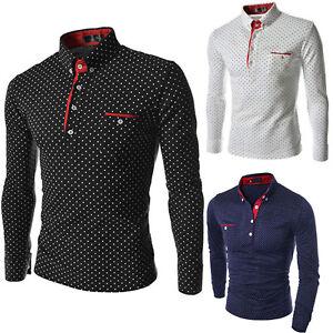 Mens-Fashion-Long-Sleeve-Casual-Shirt-Button-Fit-T-shirt-Dress-Shirt-Tops-Blouse