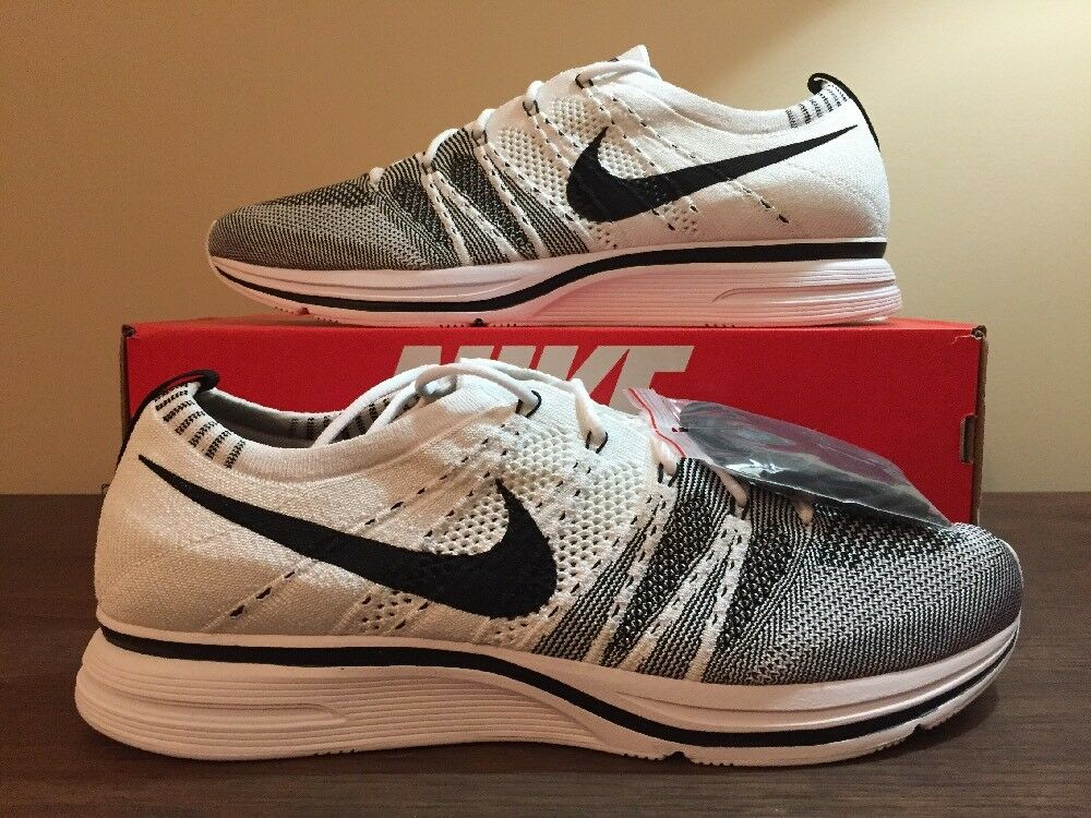 Nike Flyknit Trainer Black White Yeknit The Return Size 13 AH8396-100 Kanye
