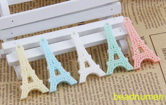 10pcs resin mix Eiffel Tower Scrapbook Craft Flatback decoration Diy C4