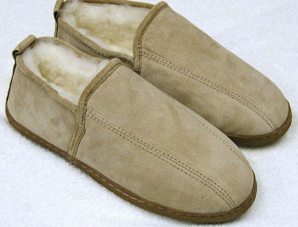 Men Sheepskin Shearling Dress Bootie shoes Slipper Moc Medium (D,M)