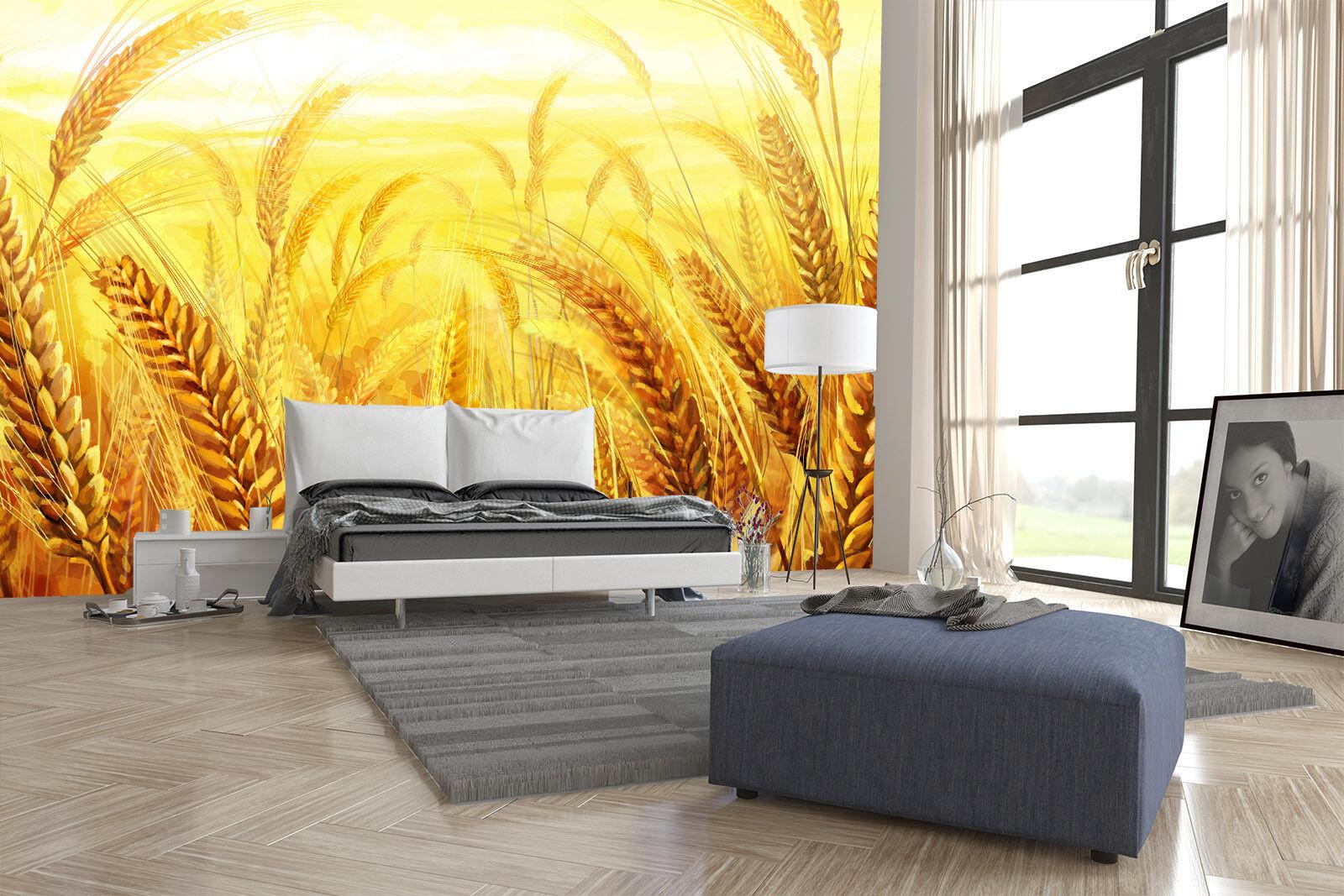 3D Goldenes Weizenfeld 88 Tapete Wandgemälde Tapete Tapeten Bild Bild Bild Familie DE | Deutschland Outlet  | Nutzen Sie Materialien voll aus  |  75109f