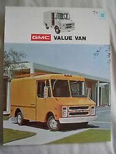 GMC Value Van brochure Aug 1973