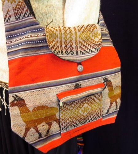traditionelle Shopper Tasche Peru Inkamuster Umhängetasche  Ethno Folklore DINA4