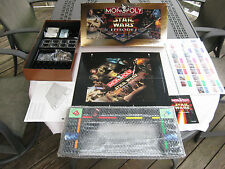 Monopoly Star Wars Episode 1 Collectors Edition 1999 New In Opened Box