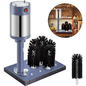 5-Head-Glass-Cup-Bottle-Washer-Electric-Brush-Cleaner-Glassware-Rinser-Scrubber