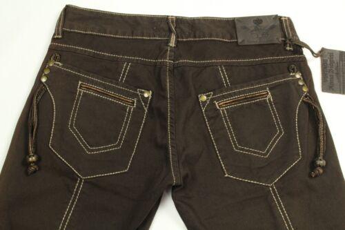 Biagini 31 ricamati Anna 42 Us Capri Marrone Jeans taglia donna vRxn11