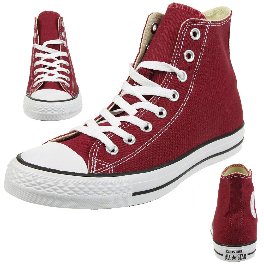 Converse C Taylor All Star Hi Chuck zapatos zapatillas canvas Maroon m9613c